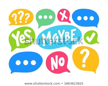 Questions cloud Stock photo © fuzzbones0