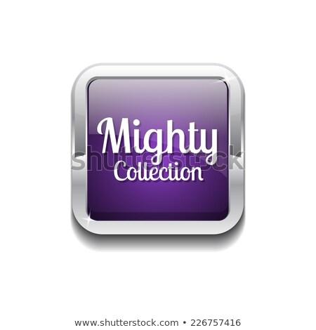 могущественный коллекция Purple вектора икона кнопки Сток-фото © rizwanali3d