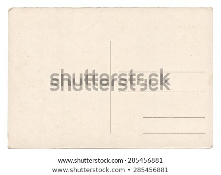 Stock photo: Old empty postcard isolated on white