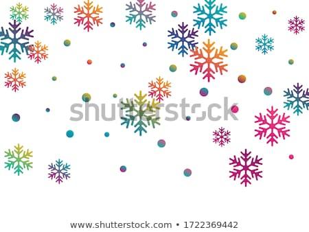 Neige frontière jaune flocons de neige design fond Photo stock © PokerMan