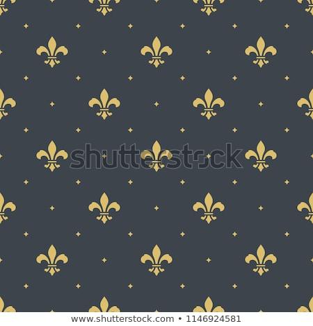 Gold Fleur-de-lis on a blue background Stock photo © blackmoon979