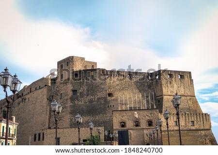 Foto d'archivio: View · Napoli · castello · Italia · costruzione · mare