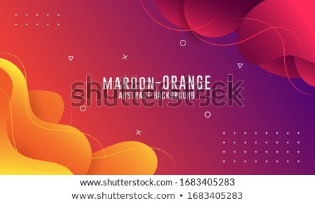 Abstrato laranja fluido cores vetor fundo Foto stock © SArts