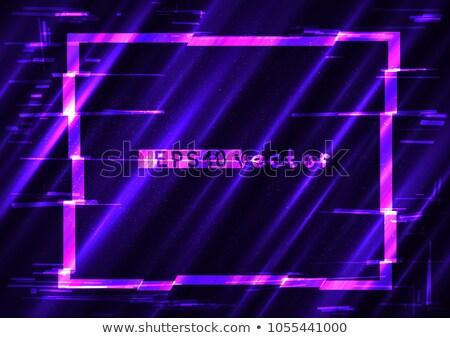 Rechthoek licht vorm sjabloon Blauw paars Stockfoto © romvo