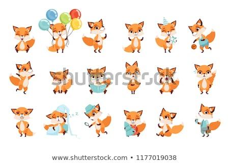 Sorpreso cartoon Fox illustrazione guardando Foto d'archivio © cthoman
