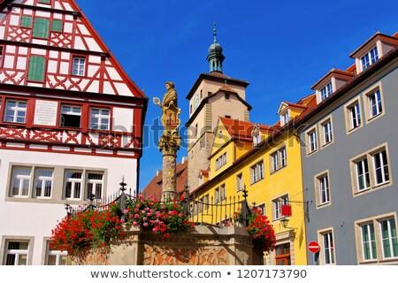 Rothenburg in Germany, Seelhouse well Stock photo © LianeM