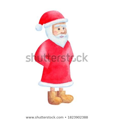 Verward cartoon sneeuwpop illustratie kerstman Stockfoto © cthoman