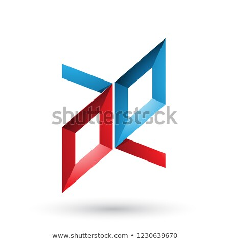 Rood Blauw frame zoals brieven vector Stockfoto © cidepix
