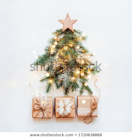 White christmas tree square background Stock photo © Imaagio