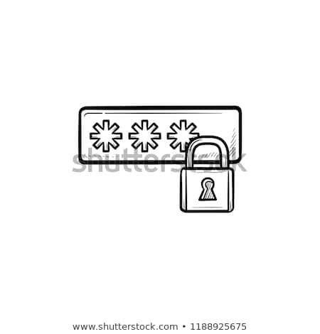 Login kłódki gryzmolić ikona Zdjęcia stock © RAStudio