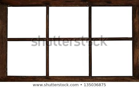 Oude venster hout illustratie gebouw achtergrond Stockfoto © colematt