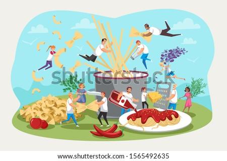 Teen Boy Gather Vegetable Illustration Stock photo © lenm