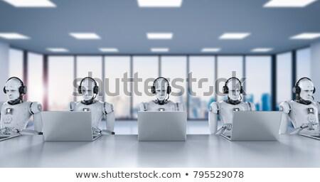 Insansı robot call center 3d illustration temas iletişim Stok fotoğraf © limbi007
