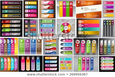 geometric shape sale banners in many colors stock photo © sarts