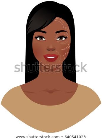 Portré gyönyörű nő műanyag sebész minta kész Stock fotó © UrchenkoJulia