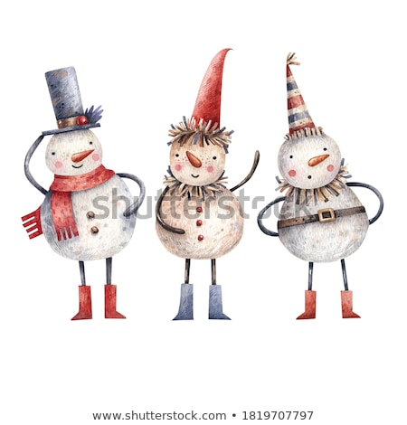 cartoon doodles winter season illustration funny artwork stock photo © balabolka