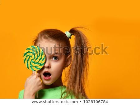 A kid portrait with lollipop Stock photo © Lopolo