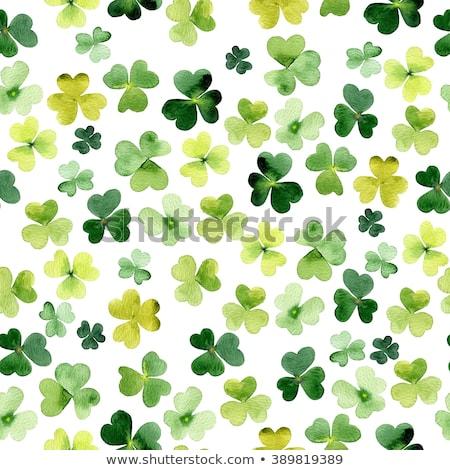 Verde foglie pattern carta impianti Foto d'archivio © artjazz