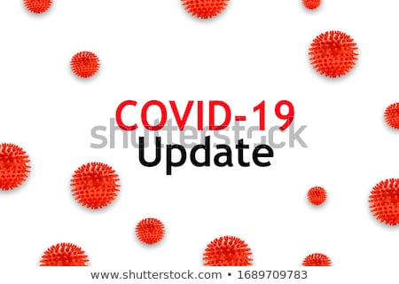 covid-19 news and updates background with 3d coronavirus Stock photo © SArts