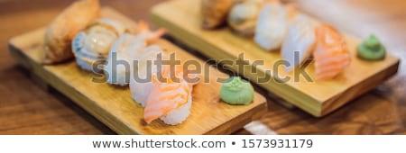 A healthy serving of Korean style sushi BANNER, LONG FORMAT Stock photo © galitskaya
