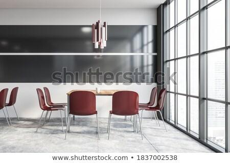 sandalye · oditoryum · iş · konferans · ekran · sahne - stok fotoğraf © vlaru