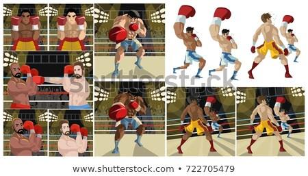 Cartoon Boxer Stock photo © blamb