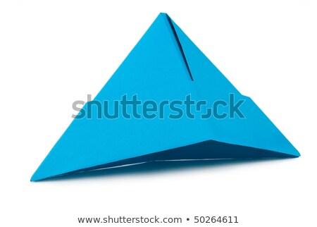 Kék papír sapka Stock fotó © givaga
