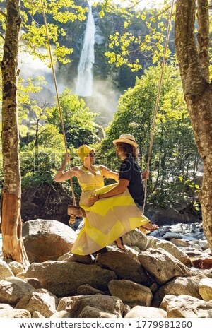 romantica · seduta · insieme · swing · foresta - foto d'archivio © HASLOO