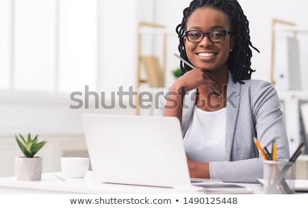 empresária · sorridente · tímido · belo · olhando · para · baixo · mulher - foto stock © photography33
