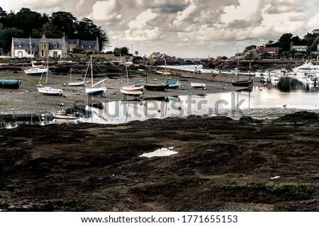 Balık tutma köy Fransa fransız su deniz Stok fotoğraf © timwege