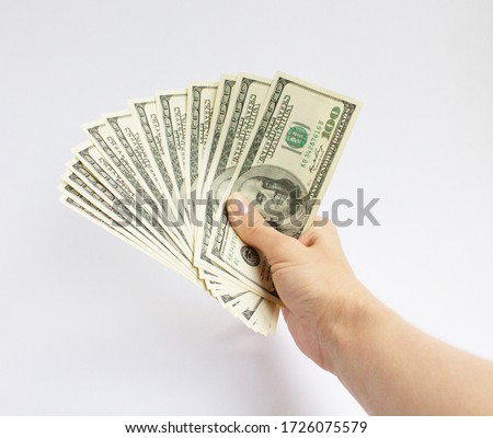 hand fanning dollars stock photo © photography33
