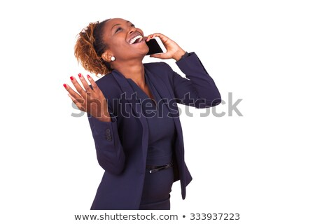 black businesswoman making a call isolated on white Stock photo © photography33