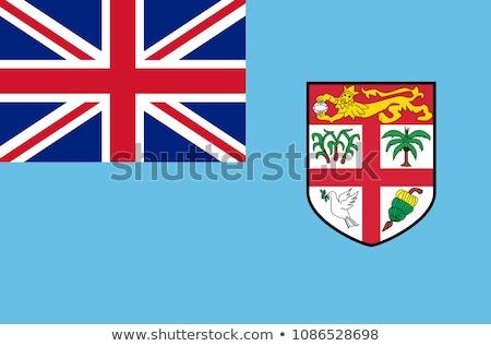 Vlag Fiji reizen banner rimpeling illustratie Stockfoto © MikhailMishchenko