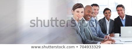 Grupy ludzi biznesu wraz kobieta okno Zdjęcia stock © wavebreak_media