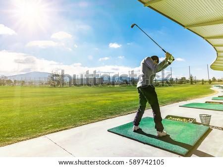 Sürücü golf sahası spor yaz yeşil Stok fotoğraf © chatchai