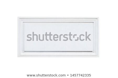 white plaque Stock photo © pedrosala