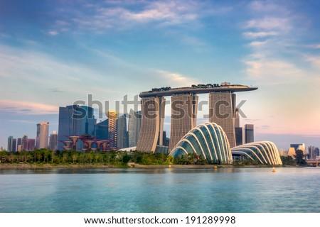 embankment of singapore stock photo © joyr