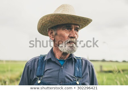 Close-up of man in dungaree Stock photo © zzve