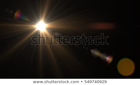 Photo lense with sun reflections. Stock photo © d13