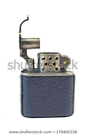 Vintage cigarrillo encendedor aislado blanco fuego Foto stock © gavran333