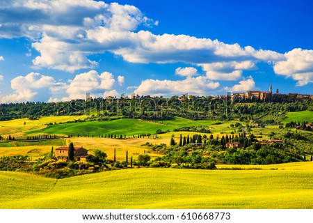 toscana · paisagem · campos · Itália · campo · horizonte - foto stock © magann