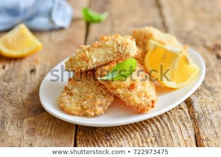 куриные · картофель · фри · Салат · груди · обеда · еды - Сток-фото © m-studio