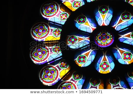 Antique Stained Glass Windows. Stock photo © chatchai