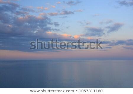 雨 雲 海 地平線 遅い 午後 ストックフォト © aetb