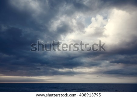 seascape on background of cloudy sky Stock photo © alinamd