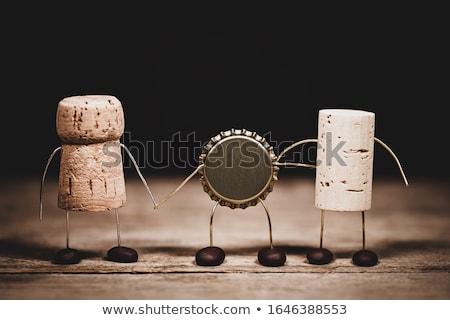 Korona sapka fotó fehér sör ital Stock fotó © Marfot