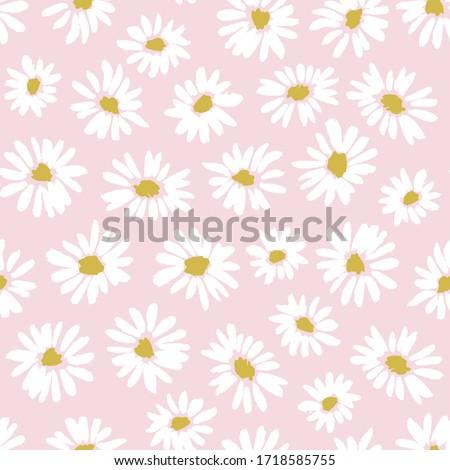 Daisy · grunge · rose · fleur · tête ·  tige - photo stock © marimorena