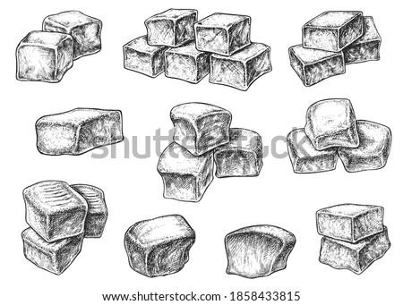 ストックフォト: スタック · 孤立した · 白 · 食品