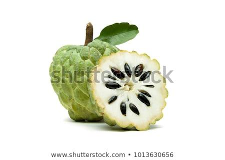 Stockfoto: Vers · vla · appel · geïsoleerd · witte · vruchten