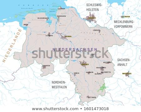 Map of Lower Saxony Stock photo © rbiedermann